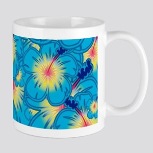 Light blue hibiscus Mugs