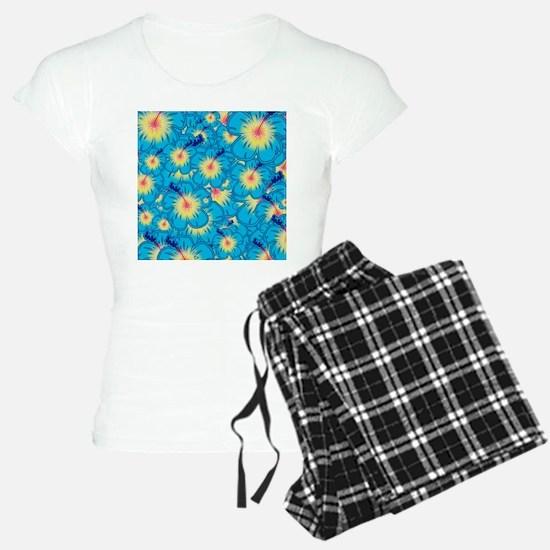 Light blue hibiscus Pajamas