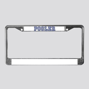 POOLER University License Plate Frame