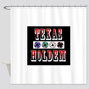 texholdchipslarge Shower Curtain