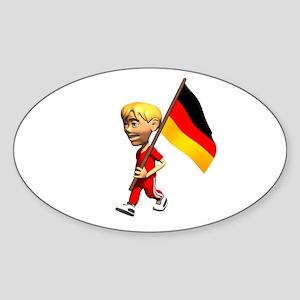 Germany Boy Oval Sticker
