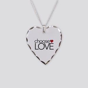 Choose Love - Necklace Heart Charm