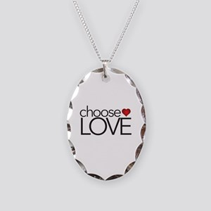 Choose Love - Necklace Oval Charm