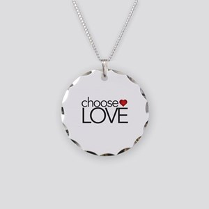 Choose Love - Necklace Circle Charm