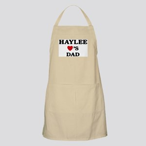 Haylee loves dad BBQ Apron