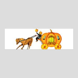 Humble horse and pumpkin horseman on pumpkin carri