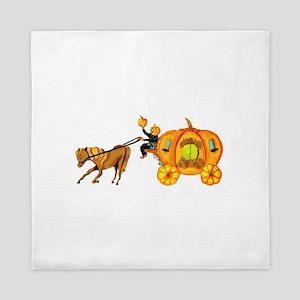 Humble Horse And Pumpkin Horseman On Queen Duvet