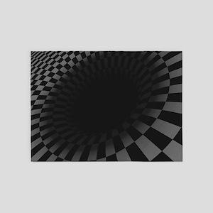 Black Hole 5'x7'area Rug