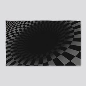 Black Hole 3 X5 Area Rug