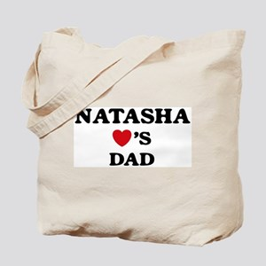 Natasha loves dad Tote Bag