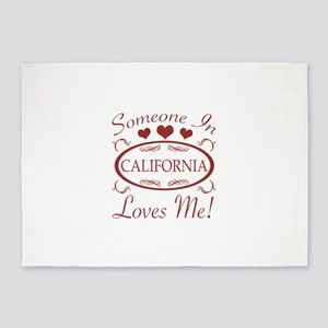 Somebody In California Loves Me 5'x7'Area Rug