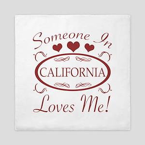 Somebody In California Loves Me Queen Duvet