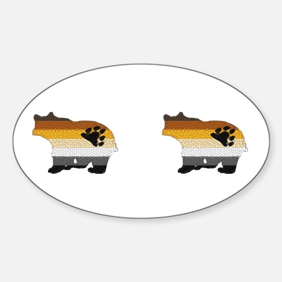 PRIDE BEARS SIDE BY SIDE Oval Decal