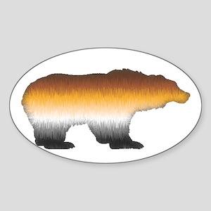 FURRY BEAR PRIDE BEAR CUTOUT Oval Sticker