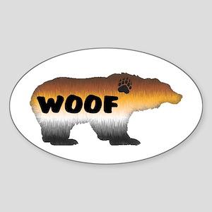FURRY PRIDE BEAR/WOOF Oval Sticker