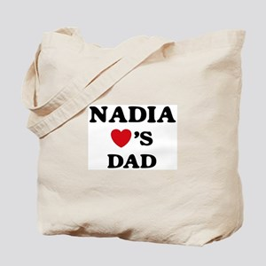 Nadia loves dad Tote Bag