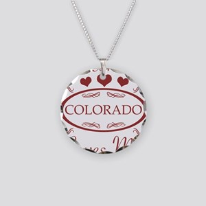 Somebody In Colorado Loves M Necklace Circle Charm