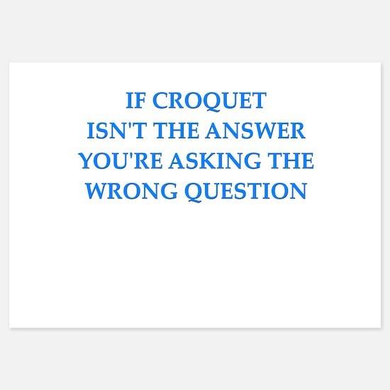 croquet 5x7 Flat Cards