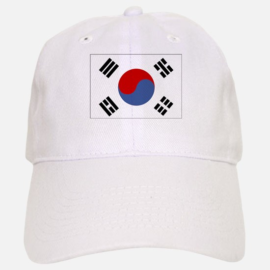south korea flag Baseball Baseball Cap