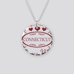 Somebody In Connecticut Love Necklace Circle Charm