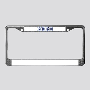NERO University License Plate Frame