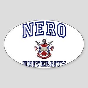 NERO University Oval Sticker