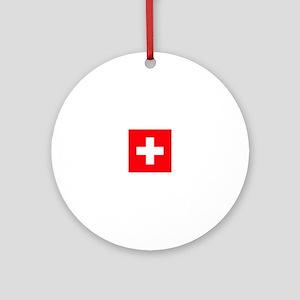 suisse flag Ornament (Round)