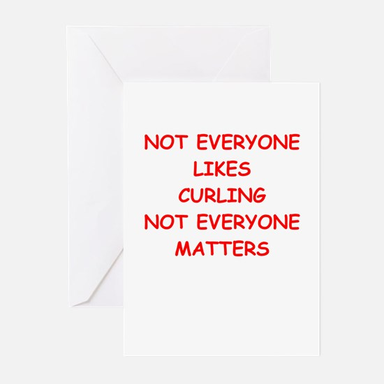 curling Greeting Cards (Pk of 20)