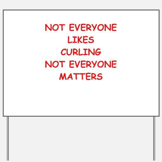 curling Yard Sign