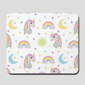 Rainbow Unicorn Pattern Mousepad