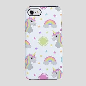 Rainbow Unicorn Pattern iPhone 7 Tough Case