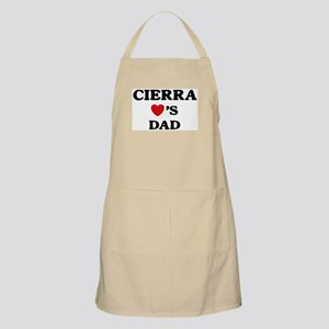 Cierra loves dad BBQ Apron