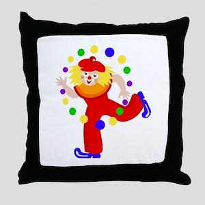 carnival clown Throw Pillow