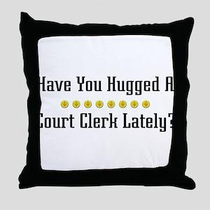 Hugged Court Clerk Throw Pillow
