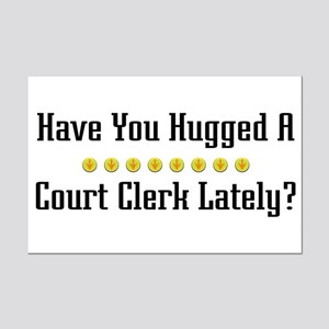 Hugged Court Clerk Mini Poster Print