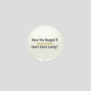 Hugged Court Clerk Mini Button