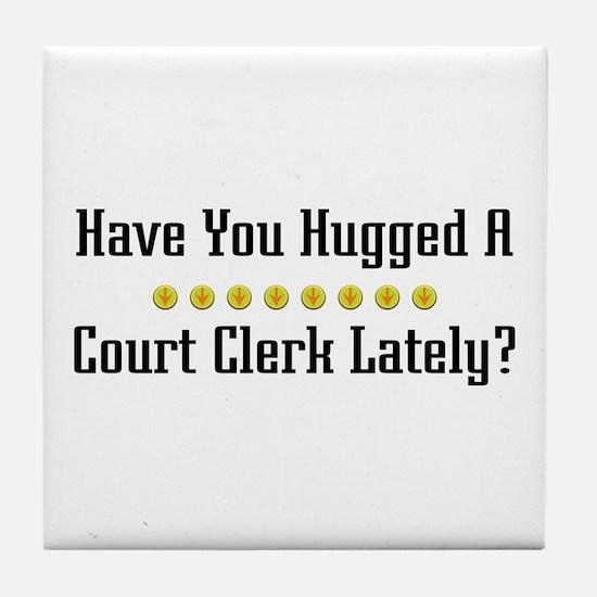 Hugged Court Clerk Tile Coaster