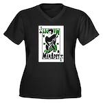 ManApes Women's Plus Size V-Neck Dark T-Shirt