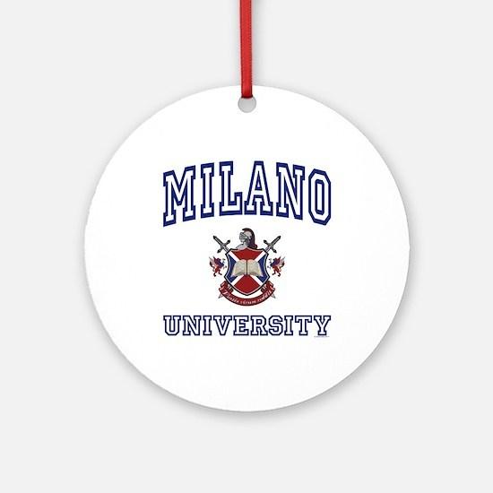MILANO University Ornament (Round)
