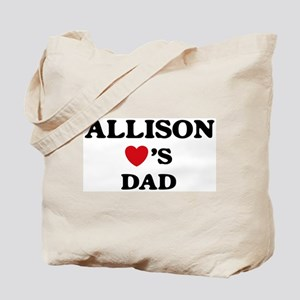 Allison loves dad Tote Bag