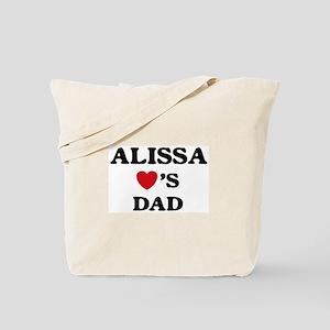 Alissa loves dad Tote Bag