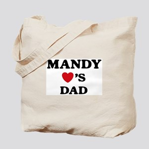 Mandy loves dad Tote Bag