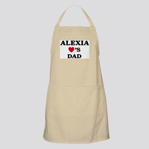 Alexia loves dad BBQ Apron