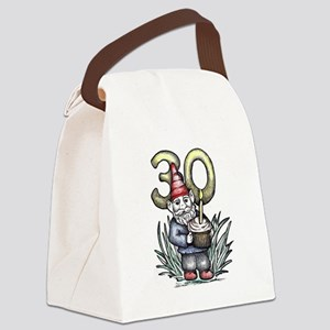 30th Birthday Gnome Canvas Lunch Bag