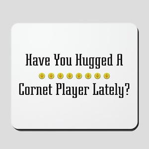 Hugged Cornet Player Mousepad