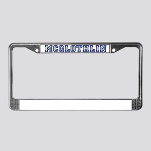 MCGLOTHLIN University License Plate Frame