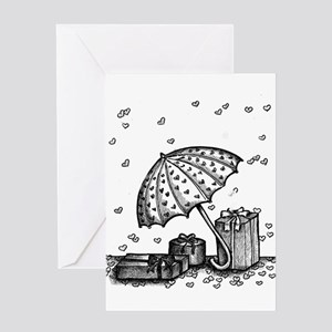black and white shower gifts Greeting Cards