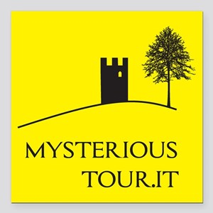"""Mysterious Tour Square Car Magnet 3"""" x 3"""""""