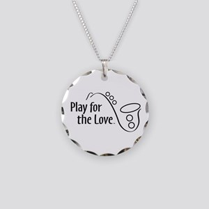PLAY FOR THE LOVE SAXOPHONE black Necklace