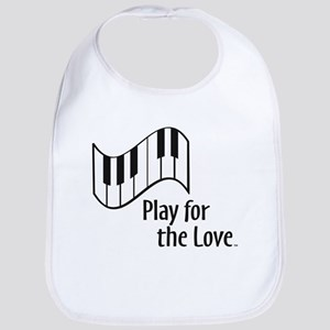 PLAY FOR THE LOVE PIANO black Bib
